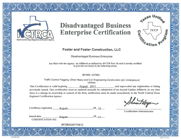 Foster & Foster Construction LLC | Dallas TX | DBE/WBE certified ...
